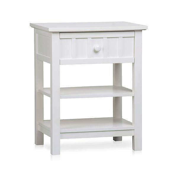 Brighton White Nightstand in Nightstands | Crate and Barrel