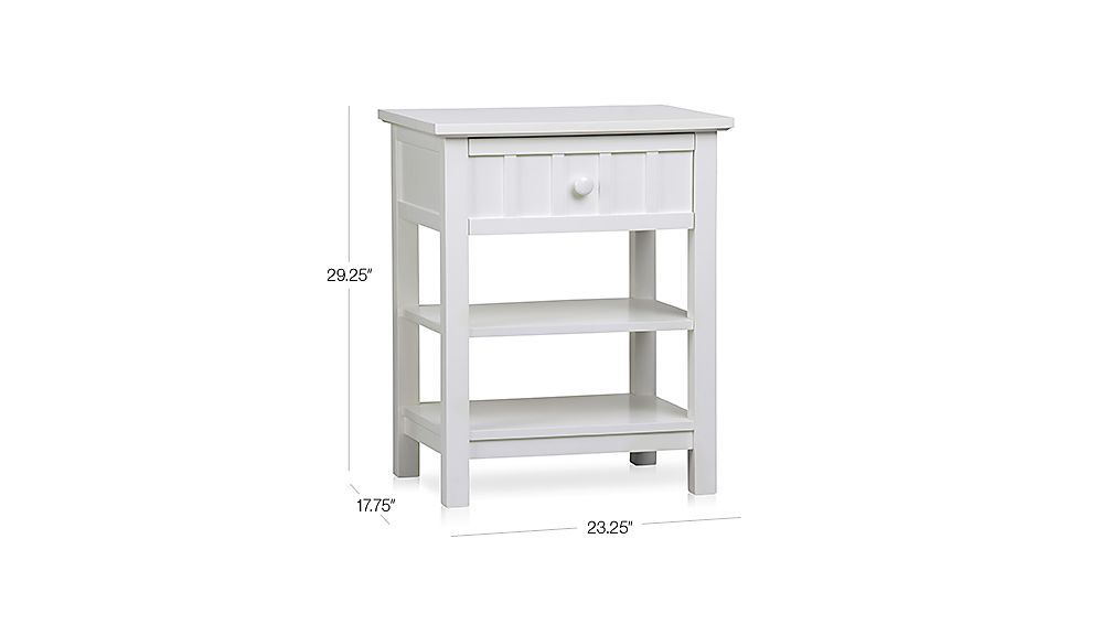 Brighton White Nightstand Dimensions
