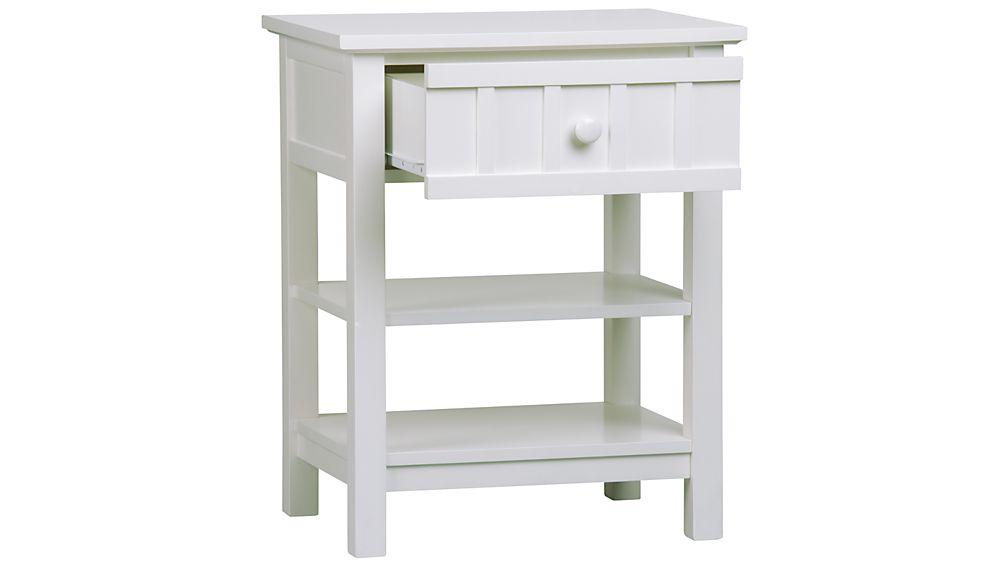 Brighton White Storage Bench