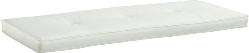We've modernized classic cottage styling without sacrificing an ounce of charm. Button-tufted bench cushion upholstered in white cotton sits neatly in the Brighton Bench's recessed design.<br /><br /><NEWTAG/><ul><li>100% cotton with poly fill; spot clean</li><li>Made in Thailand</li></ul>