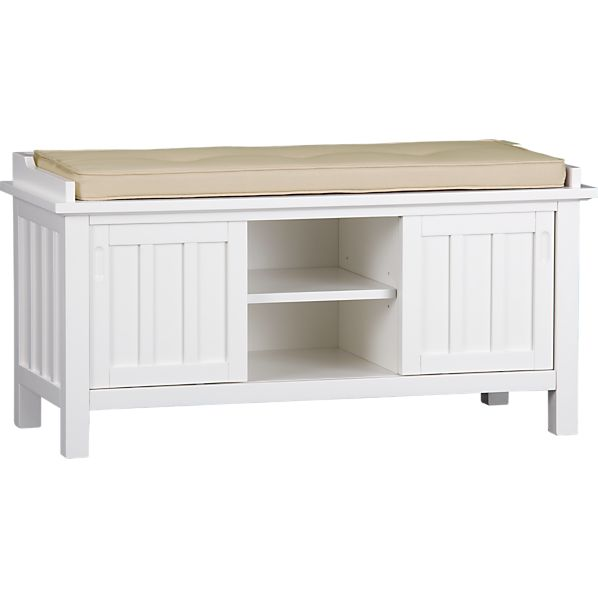 White bedroom storage bench quotes Storage bench with cushion
