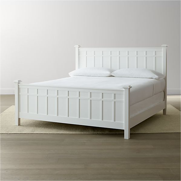 Brighton White King Bed