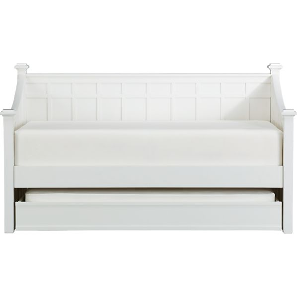 Brighton White Daybed with Trundle