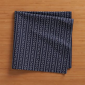 Brogue Navy Napkin