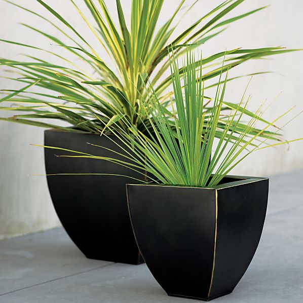 Bronze Tapered Planters Set of Two