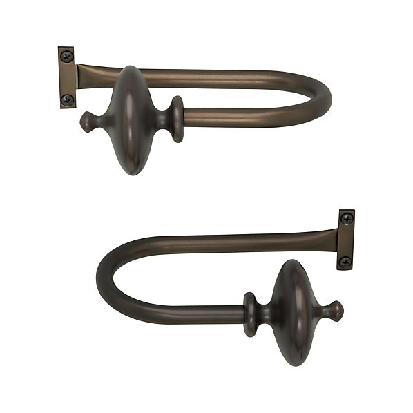 Set of 2 Bronze Urn Tiebacks