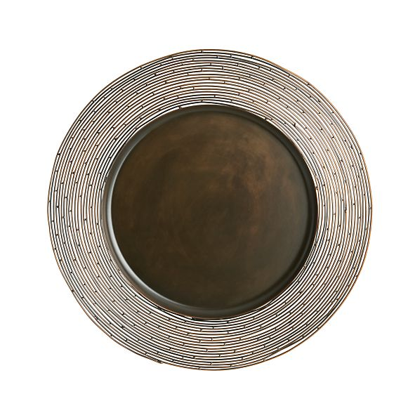 "Bronze Wire 12.75"" Charger"