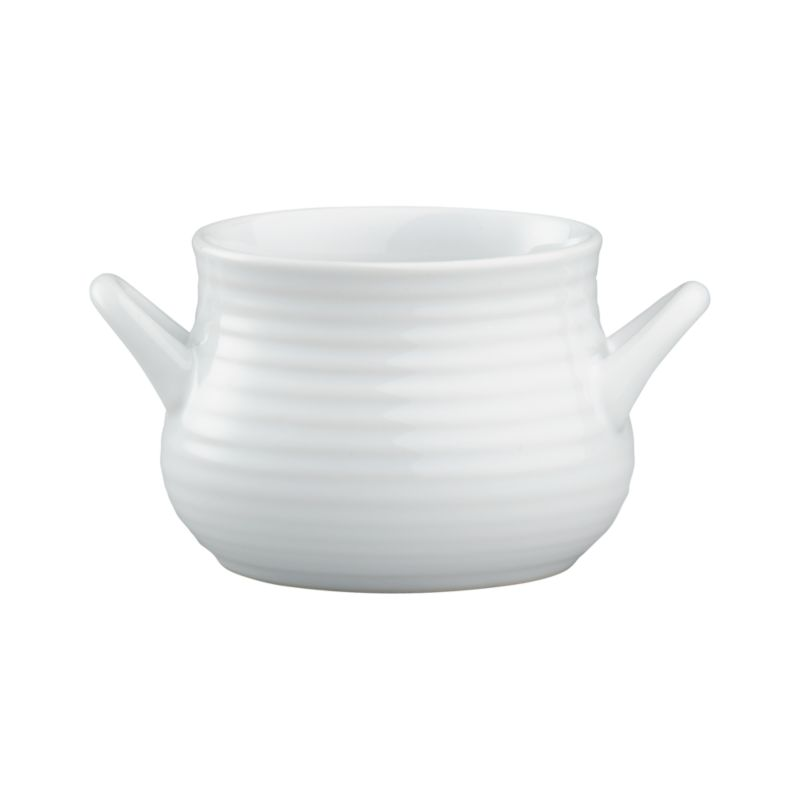 Brunswick's classic ribbed stoneware gets updated in crisp white.<br /><br /><NEWTAG/><ul><li>Stoneware</li><li>Dishwasher-, microwave-, freezer-, and oven-safe</li><li>Not for stovetop use</li><li>Made in China</li></ul>