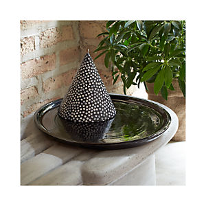 Brush Black Candle Plate