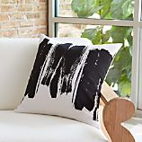 "Brush Stroke 20"" Pillow with Feather Insert"