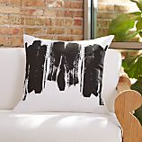 "Brush Stroke 23"" Pillow with Down-Alternative Insert"