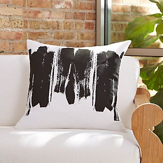 "Brush Stroke 23"" Pillow with Feather Insert"
