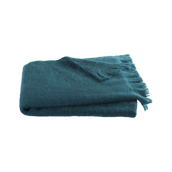 Brush Teal Throw