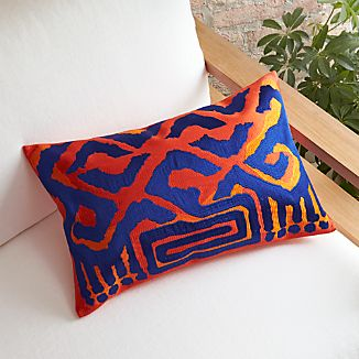 "Brush Tiger 20""x13"" Pillow with Feather-Down Insert"