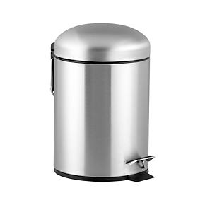 Brushed Stainless Steel 1.3-Gallon Trash Can