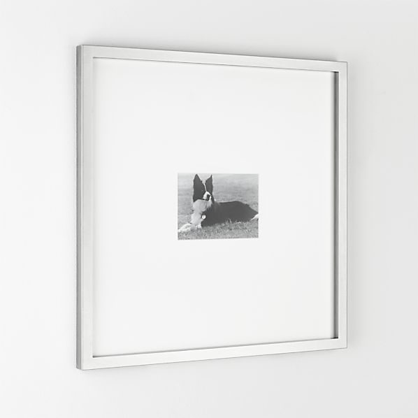 Brushed Silver 5x7 Gallery Frame | Crate and Barrel