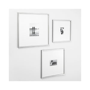 Brushed Silver Gallery Frames