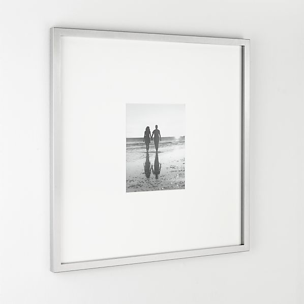 Brushed Silver 8x10 Gallery Frame Crate And Barrel
