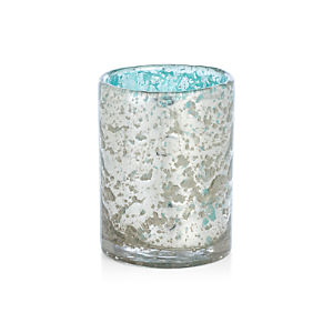 Bubbled Aqua Candle Holder