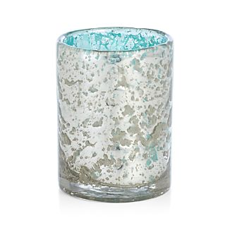 Bubbled Aqua Candleholder