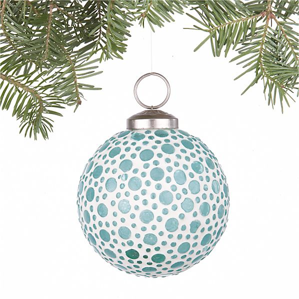 Bubble Aqua Ball Ornament