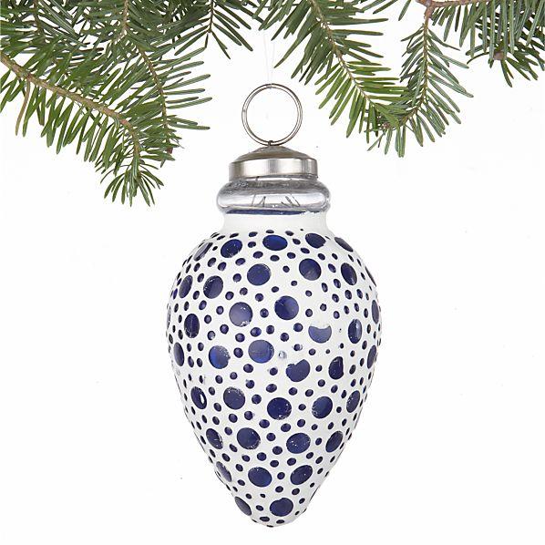 Bubble Blue Finial Ornament