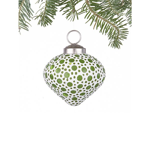 Bubble Green Teardrop Ornament