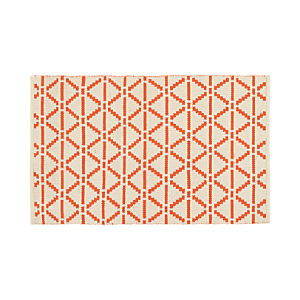 "Bucato Coral 30""x50"" Rug"