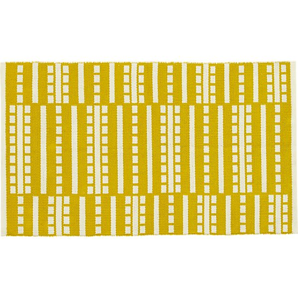"Bucato Yellow 30""x50"" Rug"