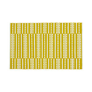 Bucato Yellow 4'x6' Rug