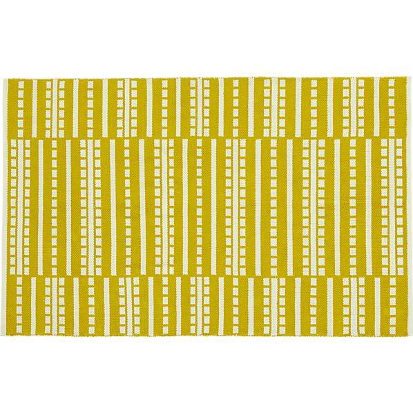 Bucato Yellow 4'x6' Rug