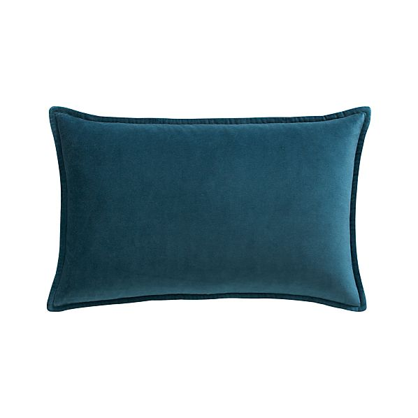 "Buckley Teal 24""x16"" Pillow with Down-Alternative Insert"