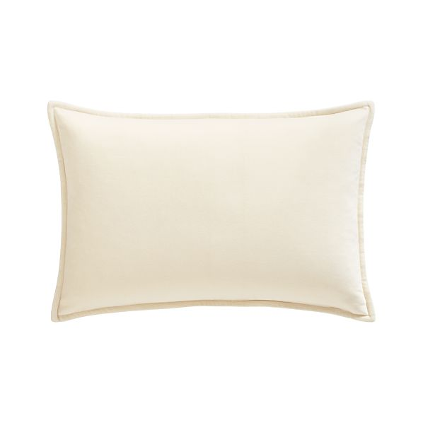 "Buckley White 24""x16"" Pillow with Feather-Down Insert"