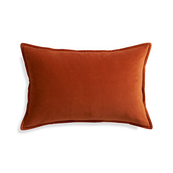 "Buckley Orange 24""x16"" Pillow"