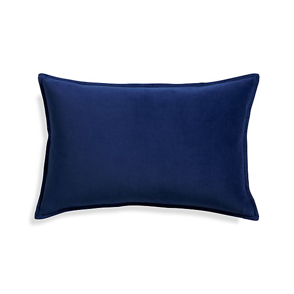 "Buckley Sapphire 24""x16"" Pillow with Feather-Down Insert"