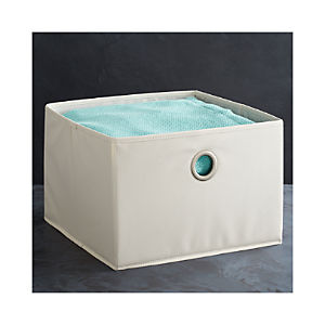 Large Buff Storage Bin with Grommet