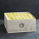 Small Buff Storage Bin with Grommet.