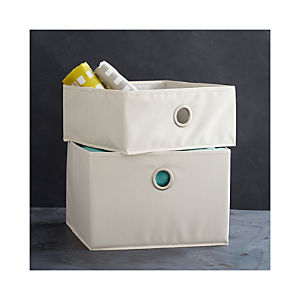 Buff Storage Bins with Grommet
