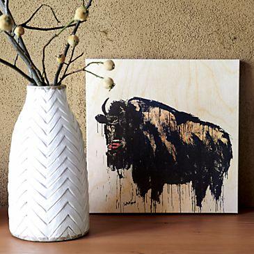 BuffaloPrintAdraVaseSI213