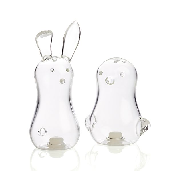 Set of 2 Bunny and Chick Salt and Pepper Shakers
