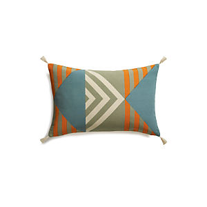 "Busani 24""x16"" Pillow with Feather-Down Insert"