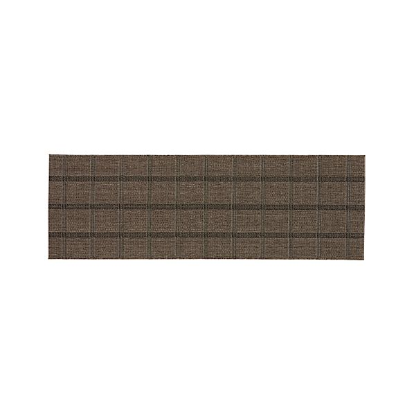 Butler Grid 2.5'x8' Indoor-Outdoor Rug Runner