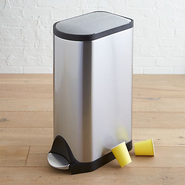 simplehuman® 8-Gallon Stainless-Steel Butterfly Step Can