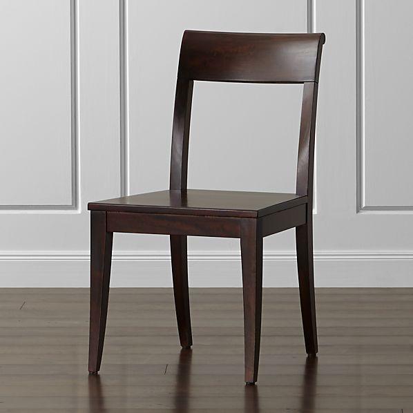 Cabria Dark Wood Side Chair