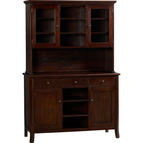 Cabria II Dark Buffet with Hutch Top
