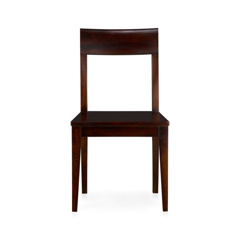 The bold grain of solid mango wood takes a refined turn in the espresso-stained Cabria. Our traditionally-minded Cabria side chair offers casual-to-formal functionality at an affordable price. <NEWTAG/><ul><li>Sustainable solid mango wood</li><li>Dark espresso stain with clear protective lacquer finish</li><li>Nylon floor protectors</li><li>Made in Indonesia</li></ul><br /><br />