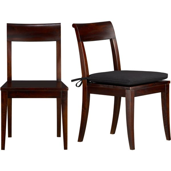 Cabria dark side chair and cushion crate and barrel - Crate and barrel parsons chair ...