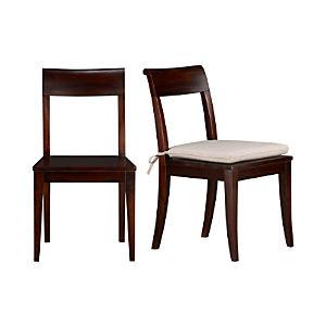 Cabria Dark Side Chair and Cushion