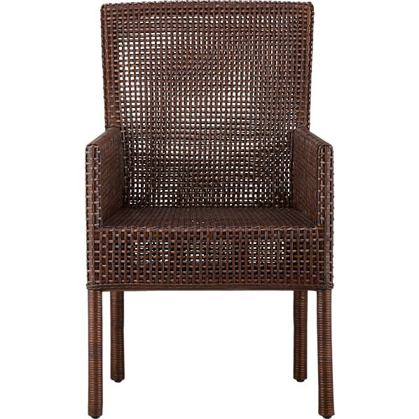 Cabria Honey Brown Woven Arm Chair