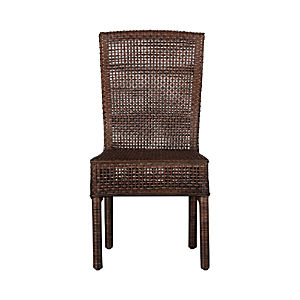 Cabria Honey Brown Woven Side Chair